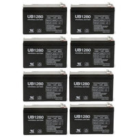 12V 8AH SLA BATTERY FOR ALARMS AND BACKUP SYSTEMS - 8 Pack