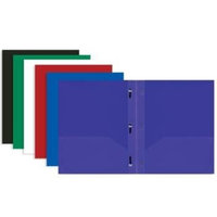 Bazic Solid Color 2-Pockets Poly Portfolio W/3 Prongs(pack Of 48)
