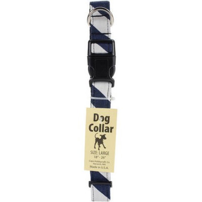 Cape Hobbycraft Large Navy Chevron Dog Collar W/Welded D-Ring Buckle-Neck Size 18