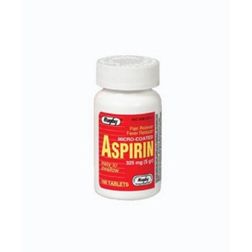 Watson Rugby Labs Aspirin 325 mg, Micro Coated, 100 Tablets, Watson Rugby