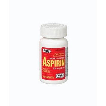 Watson Rugby Labs Aspirin 325 mg, Micro Coated, 100 Tablets, Watson Rugby