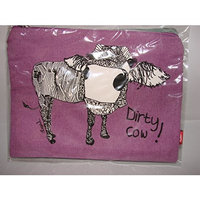 Casey Rogers Cosmetic Case - Dirty Cow!