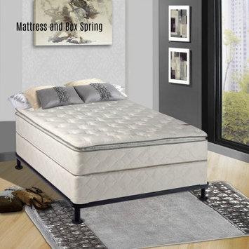 Comfort Bedding Continental Matress Mattress, 10-Inch Fully Assembled Pillow Top Orthopedic Mattress and Semi Flex Box Spring, Full
