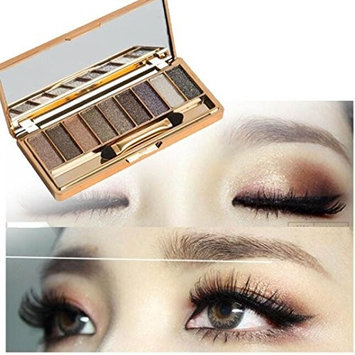 9 Colors Shimmer Eyeshadow,YOYORI Eye Shadow Loose Pigment Highlighter Natural Cosmetic Brush Set for Naked Luxury Golden Matte Nude Bronze or Smokey Eye Makeup