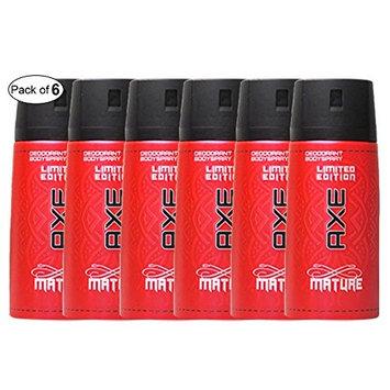 AXE Mature Deodorant Body Spray (150ml) (Pack of 6)