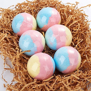 Bath Bombs Gift Set 6, Ultra Lush Bath Bomb for Kids, Bubble Bath Handmade Fizzes Spa Gift Set, Moisturizing Kit, Organic and Natural, Birthday Gifts for Women, Men, Mother 4 oz (FDA Approved)