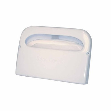 Excellante Half Fold Toilet Seat Cover Dispenser, White Plastic 16-Inch by 11-1/2-Inch by 3-Inch