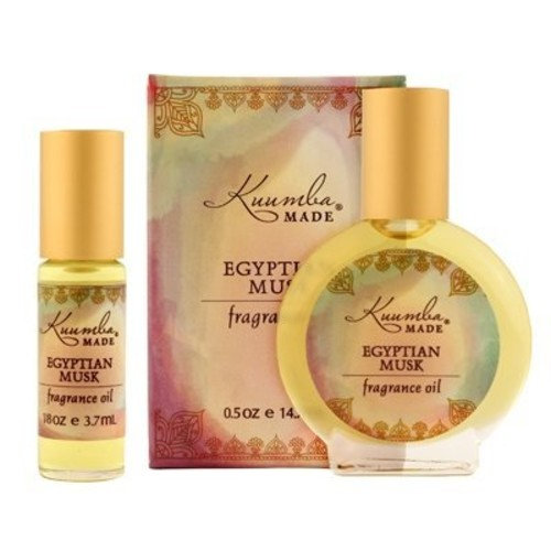 Kuumba Made Egyptian Musk Perfume Oil 1/8oz and 1/2oz roll on gift set one for the house and one for on the go