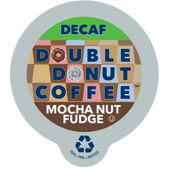 Double Donut Decaf Mocha Nut Fudge Flavored Coffee, in Recyclable Single Serve Cups for Keurig K-Cup Brewers, 80 Count