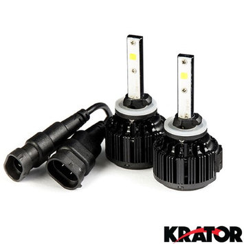 Krator LED 880/881/893/894/899 Headlight Conversion Bulbs 40W 4000LM 6000K White Light with Built-In Turbo Cooling Fan for 1998-2001 GMC Envoy