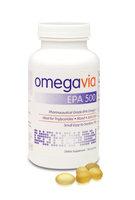 OmegaVia EPA 500 Pharmaceutical Grade Omega-3 Capsules, 120 Ct