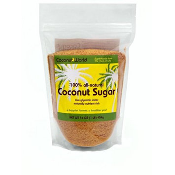 Coconut World 100% Organic Coconut Sugar 16 oz