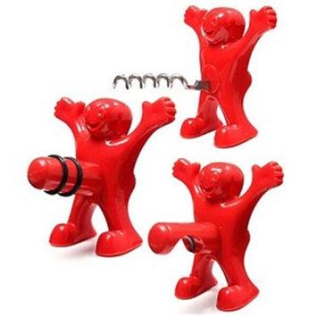 Youphoreah HMBO-321 Excited Man Bottle Opener Stopper & Corkscrew