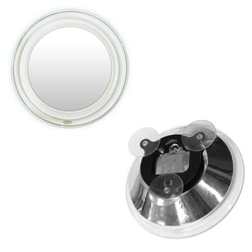 Rucci Super Bright LED Lighted Suction Mirror, 10X