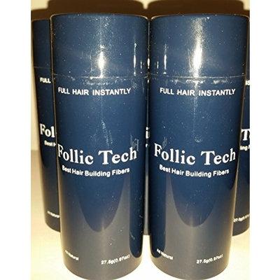 Follic Tech Dark Brown Hair Building Fibers 275 grams Total 10 - 27.5 Gram Shaker Bottles For The Price Of A Refill