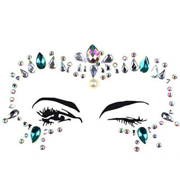 XIDAJIE Reusable Rhinestone Face Gems Sticker,Face Jewels for Face Decorations Temporary Tattoo,Non-Toxic Acrylic