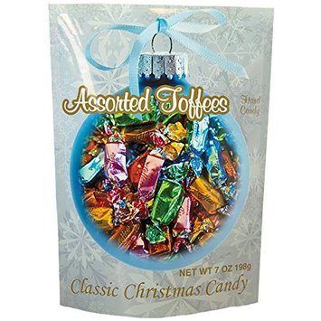 Primrose Assorted Toffee Soft Candy - Christmas Candy In Holiday Package - Gourmet Candy Since 1928 - 7 oz Resealable Bag - Individually Wrapped
