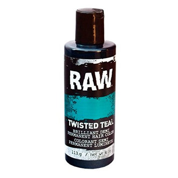 Twisted Teal Hair Color, Demi-Permanent 4 oz by RAW. Veggie-Based, Scented, Long-Lasting Temporary Hair Dye that Lasts 3 to 6 Weeks. Never Tested on Animals
