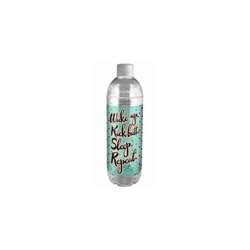 Spoontiques 17796s 22oz water bottle wake up kick butt