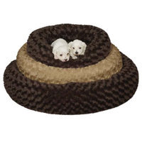 Petedge ZW060 32 31 SP Swirl Plush Donut Bed 32 In Chocolate