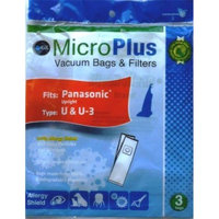 GK MicroPlus For Panasonic GKH-PanU Microplus 3 Ply Biodegradable Vacuum Bags Pack of 75