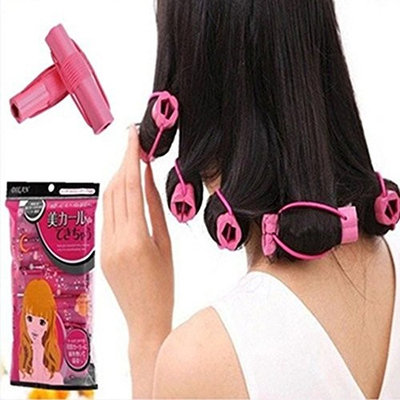 Lovef 6pcs Magic Foam Rollers Sponge Hair Styling Soft Curler Curlers Twist DIY Tool