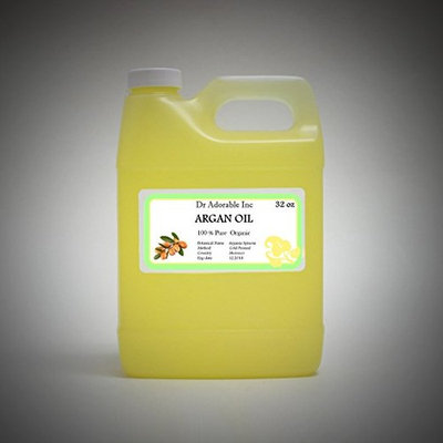 Dr. Adorable - 100% Pure Argan Oil Organic Cold Pressed Natural Hair Skin-32 oz