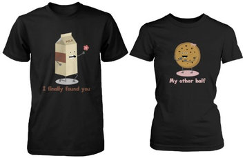 Love Cute Matching Couple Shirts - Milk and Chocolate Chip -Gifts for Couples