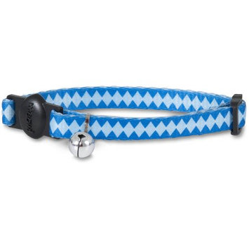 PETMATE 11411 ADJUSTABLE FASHION CAT COLLAR, BLUE, 3/8