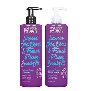 Not Your Mothers Naturals Linseed Chia Blend & French Plum Seed Oil Volume Boost Shampoo & Conditioner Set of 2
