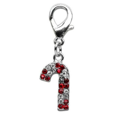 Holiday lobster claw charms / zipper pulls Candy Cane .