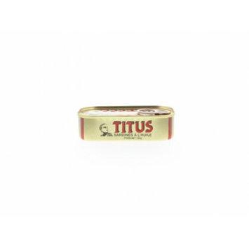 TITUS Sardines in Oil - Sardinas en Aceite 125 g (Pack of 12)