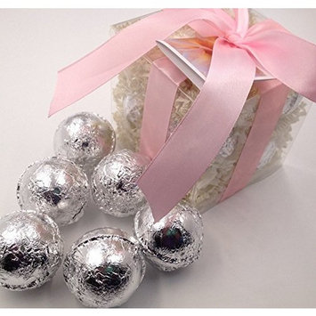 VANILLA LACE GIFT SET with 6 Bath Bomb Fizzies with Shea, Mango & Cocoa Butter, Ultra Moisturizing (14 Oz) Great for Dry Skin, All Skin Types (Vanilla...