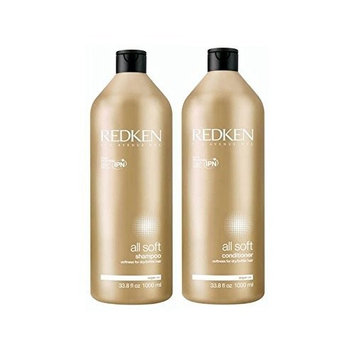 Redken All Soft Shampoo And Conditioner 1000ml Duo (Pack of 6)