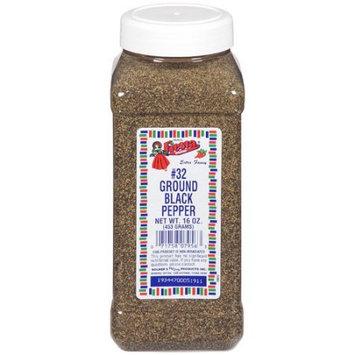 Fiesta Brand Ground Black Pepper, 16 oz jar