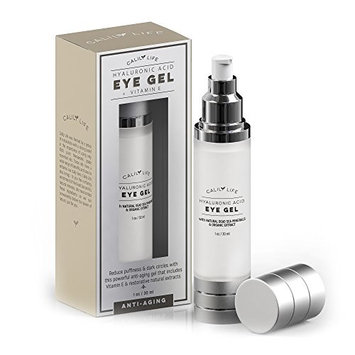 Calily Life Hyaluronic Acid Eye Gel + Vitamin E with Dead Sea Minerals, 1 Oz. – Deep Penetration Formula - Anti-Wrinkle and Anti-Aging - Minimizes Fine Lines,...