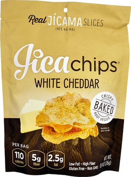 JicaChips Gluten Free Jica Chips White Cheddar - 0.9 oz pack of 12