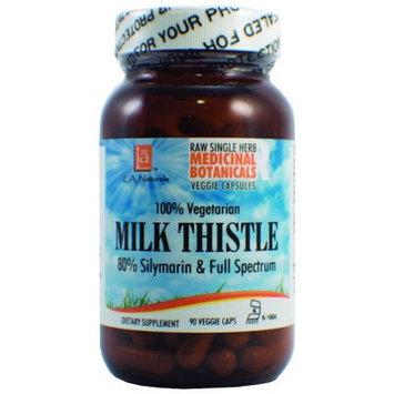 L A Naturals Milk Thistle Raw Herb 90 VGC