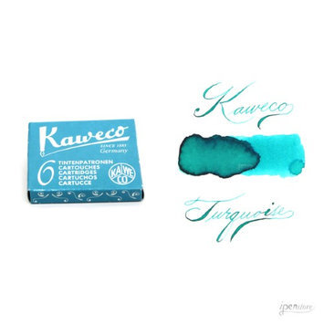 Pk/6 Kaweco Fountain Pen Ink Cartridges, Turquoise