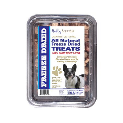 Healthy Breeds 840235147244 10 oz French Bulldog All Natural Freeze Dried Treats Beef Liver