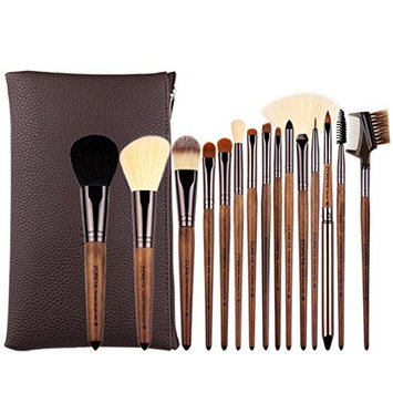 Makeup Brushes 15pcs Walnut Makeup Brush Set Soft Synthetic Hair Makeup Brushes Powder Foundation Eye Shadow Make Up Tools Essential Kit