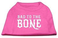 Ahi Bad to the Bone Dog Shirt Bright Pink Sm (10)