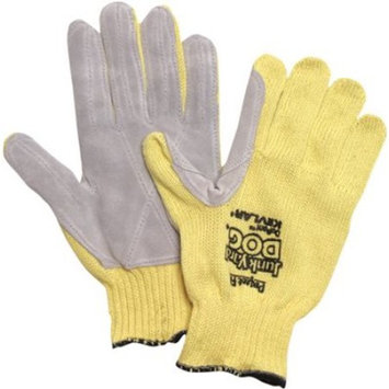 Honeywell Jumbo Yellow Junk Yard Dog Standard Weight Cut Resistant Gloves With , Kevlar Lined And PVC Coating