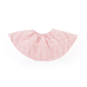 Perry Mackin Organic Cotton Round Bib Red Stripe