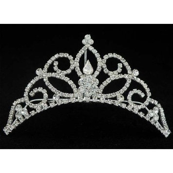 Bridal Flower Girl Prom Party Crystal Tiara Comb 66