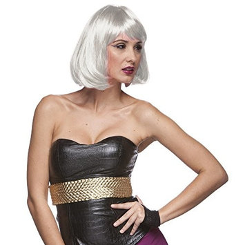 Sepia Costume Party Page Synthetic Wig - White