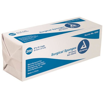 Gauze Sponge Non-Sterile Cotton Filled 2 x 2 Bg/200