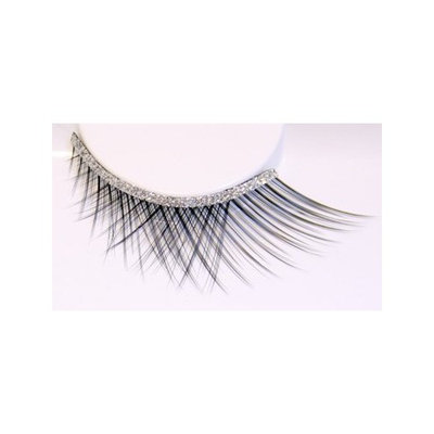 Zinkcolor Silver Glittery Band False Synthetic Eyelashes D101 Dance Halloween