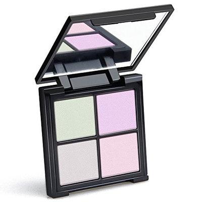 Highlighter Palette, QiBest 4 Colors Glow Kit Makeup Powder Palette Face Illuminating Highlighting & Bronzer Palette