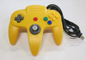 Nintendo N64 USB Controller - Yellow - by Mars Devices